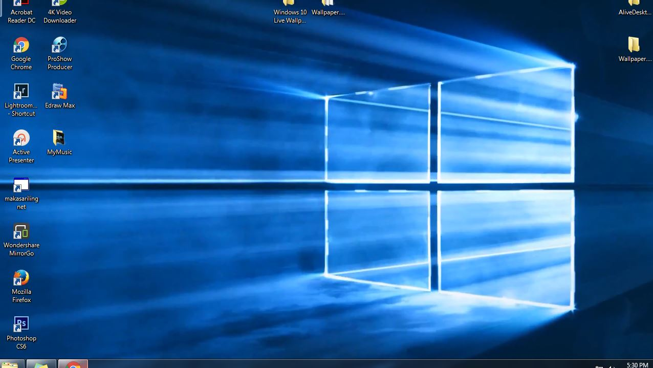 windows 10 Live wallpaper screenshot